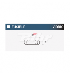 FUSIBLE 15A 25MM