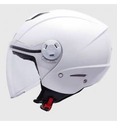 Casco jet MT Helmets City Eleven Solid Blanco